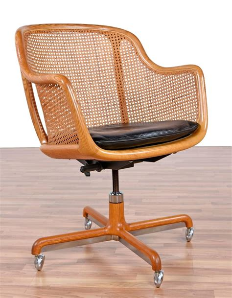 mid century modern swivel desk chair by ward