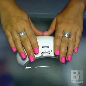 Gelish Make You Blink Pink neon pink nails
