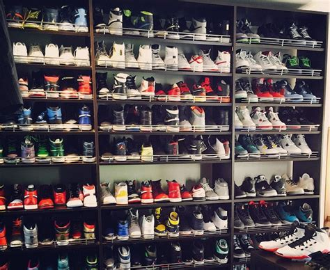 mayweather shoe collection ray allen shows off his enormous shoe collection for the win