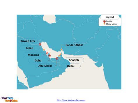 persian gulf strait  hormuz map  powerpoint