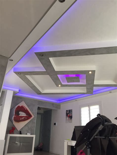 plafond placo design relief led faux plafond led et design