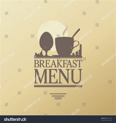 breakfast menu card design template stock vector