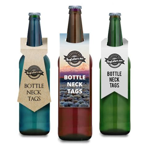 beer bottleneck label powerpoint template bottle hang tag template pictures to pin on pinterest