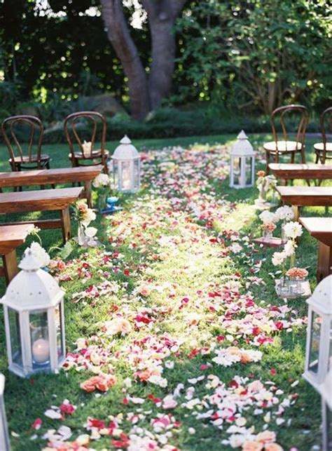 shabby chic multicolor aisle markers country fall garden