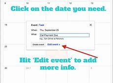Set up Google Calendar as a Bill Pay Calendar and Pay Your
