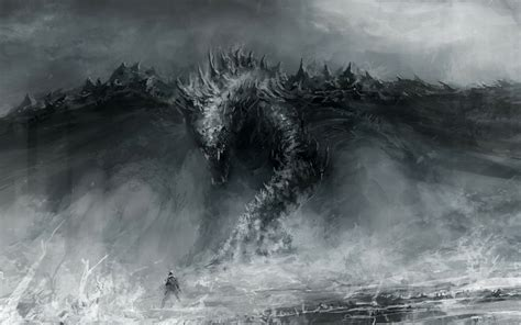 black  white dragon wallpaper  wallpapersafari