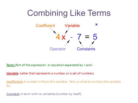 100 worksheets combining like terms combining like
