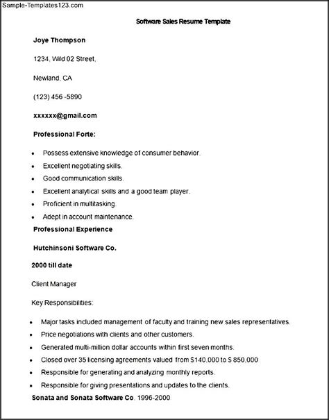 sle experience summary in resume for software engineer oracle sales resume sales sales lewesmr