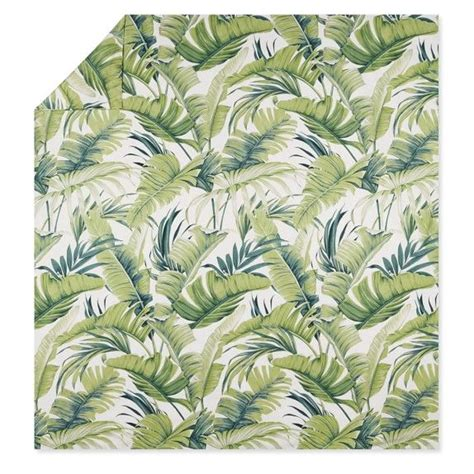 tropical leaf duvet cover shams bedroom tropical