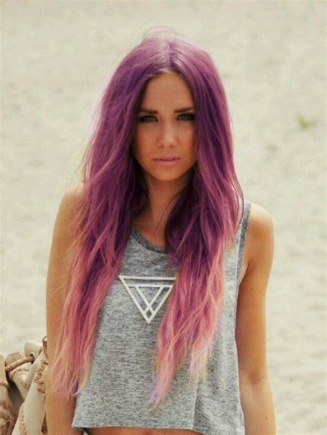 Pastel Purple Pink And Platinum Blonde Ombre Hair