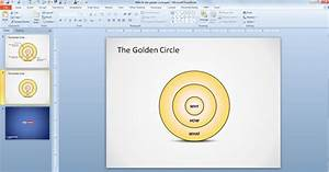 Free The Golden Circle Powerpoint Diagram - Free Powerpoint Templates
