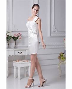 little white short wedding dresses tight mini beaded one With short beaded wedding dress