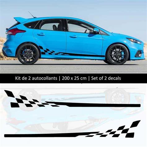 ford performance aufkleber kit aufkleber stickers bande seitenleiste ford focus style racing