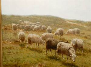 Sheep and Shepherd Oil Painting image 7