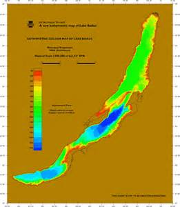 Lake Baikal Depth Map
