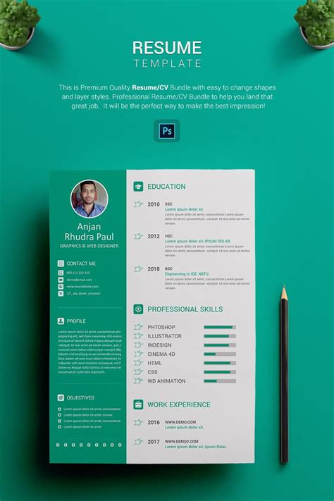 Graphic Resume Templates by Arp Graphic Designer Resume Template Resume Cv