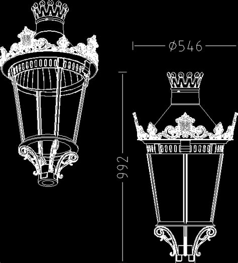 lighting lantern dwg block for autocad designs cad