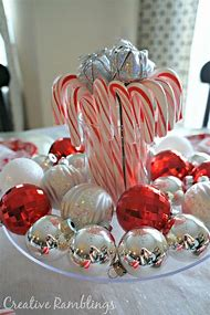 candy cane christmas table decorations centerpieces