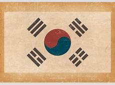 South Korean Flag on Grunge Background Download Free