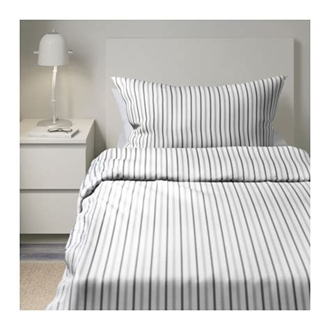 housse de couette 200x220 ikea h 214 st 214 ga quilt cover and 2 pillowcases striped grey 150x200 50x80 cm ikea