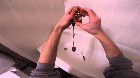 adjust  trip lever bathtub drain youtube