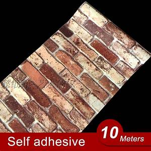 10M Vinyl Self adhesive wallpaper PVC waterproof stone ...