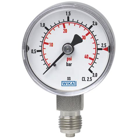 bourdon tube pressure gauge stainless steel  wika