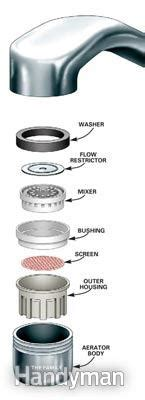 kitchen faucet with filter unclog a kitchen faucet aerator family handyman