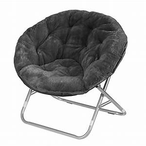 Saucer, Chairs, For, Adults, Oversized, Living, Room, Urban, Blac, Chair, Fluffy, Fur, Cover