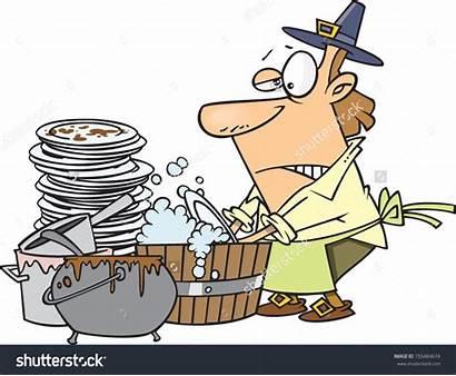 Dishes Washing Clipart Cartoon Vector Clipground Pilgrim