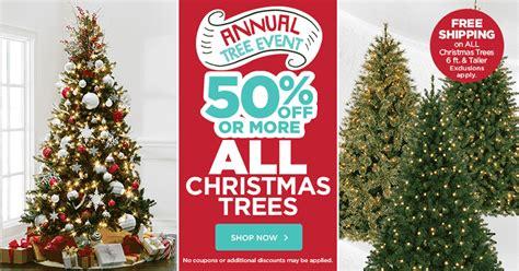 christmas tree sale 50 off plus free shipping
