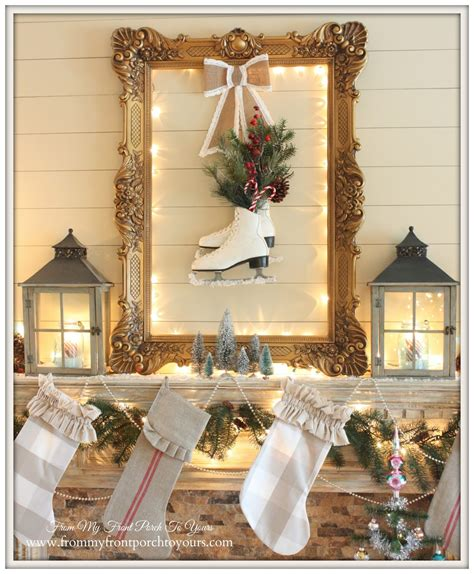 front porch   christmas mantel  blog hop