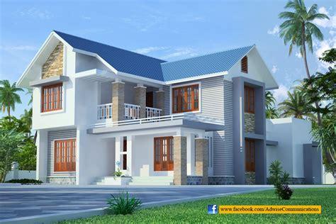 split entry home plans sloped roof kerala home design building plans
