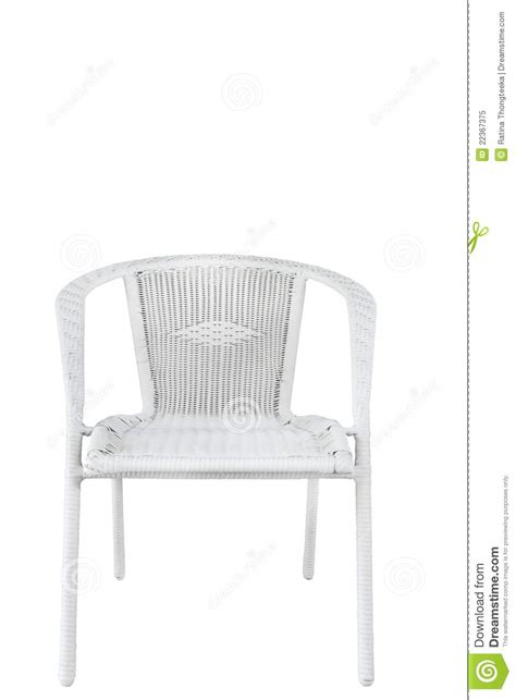 chair plastic wicker white chair royalty free stock photo