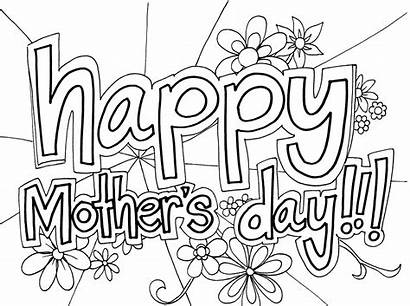 Coloring Mother Pages Mothers Sheets Printable Colouring