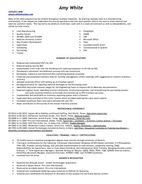 Inventory Management Resume by Inventory Resume