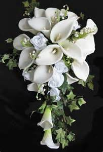 purple bouquets white calla lilies and roses bouquet