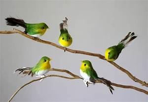Oiseaux Decoration Exterieur : oiseaux artificiels de d coration verts 8cm sachet de 12 oiseaux d coratifs ~ Melissatoandfro.com Idées de Décoration
