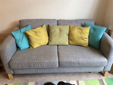 3 Seater Sofa . Ikea Karlstad . Isunda Grey. Removable