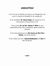 Thesis Dedication Examples - Thesis Title Ideas For College