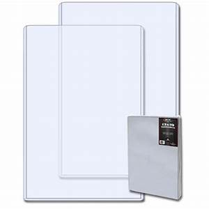 pack 10 bcw 13x19 hard plastic topload photo print With hard plastic document case