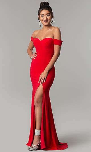 promgirl red prom dresses long red formal gowns