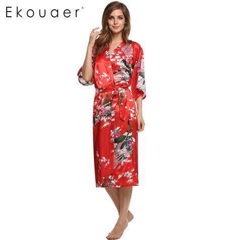 robe de chambre en satin pour femme aliexpress com buy satin kimono robe sleepwear