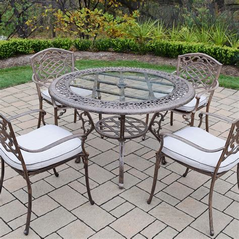 oakland living mississippi 5 cast aluminum patio