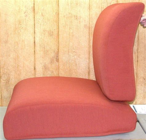 2 pc seat cushion chair set scoop chili rust