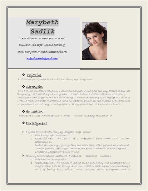 Photographer Resume by Photographer Resume Sle Sle Resumes