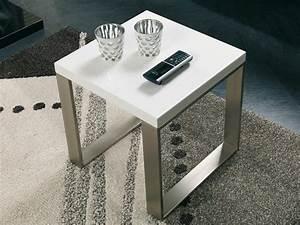 Tischplatte Hochglanz Weiß : beistelltisch wei gestell edelstahl optik ~ Buech-reservation.com Haus und Dekorationen