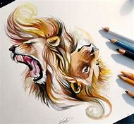 Colored Pencil Art Drawings Animals
