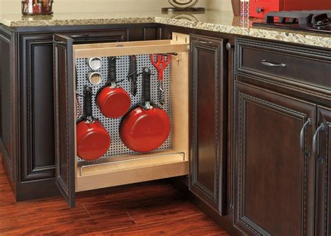 kitchen base cabinet pull outs a spin on the blind corner cabinet woodworking network 7723