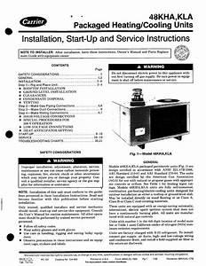 Carrier 48kha User Manual